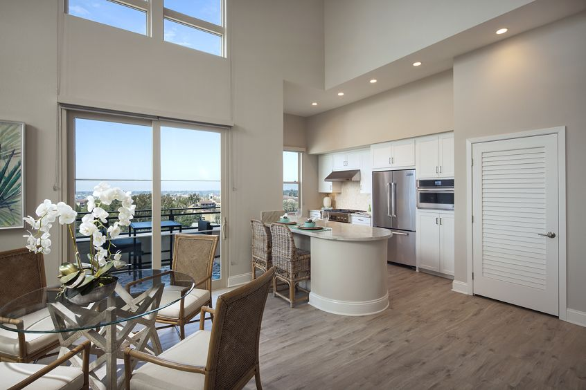 Dining and Kitchen area at Villas Fashion Island Apartment Homes in Newport Beach, CA.