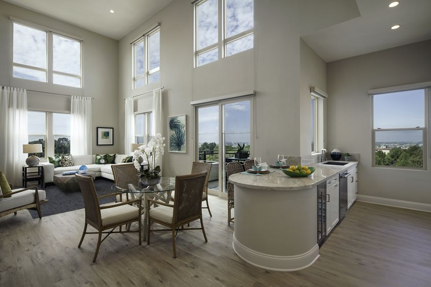 Interior view of Villas Fashion Island Apartment Homes in Newport Beach, CA.