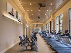 Interior view of fitness center at Villas Fashion Island Apartment Homes in Newport Beach, CA.