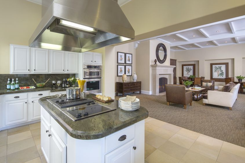 Interior view of clubhouse at Monte Vista Apartment Homes in Mission Valley, CA.