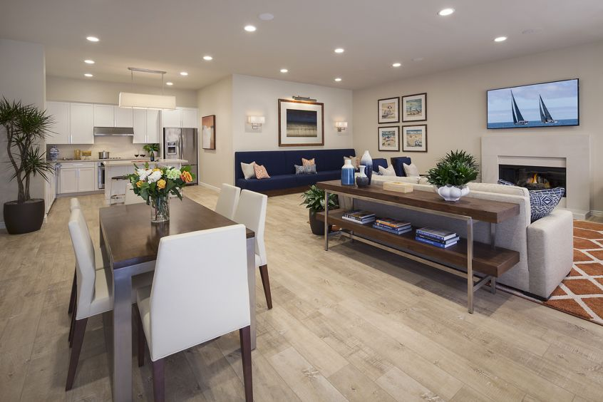 Interior view of clubhouse at Solazzo Apartment Homes in La Jolla, CA.