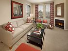 Interior images of living room at The Village Mission Valley Apartment Homes in San Diego, CA.