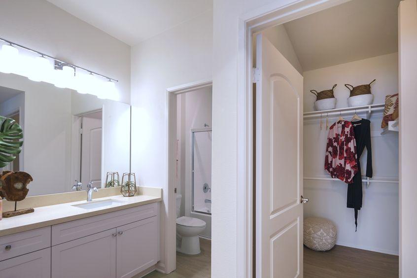 View of bathroom at The Villas of Renaissance Apartment Homes in La Jolla, CA.