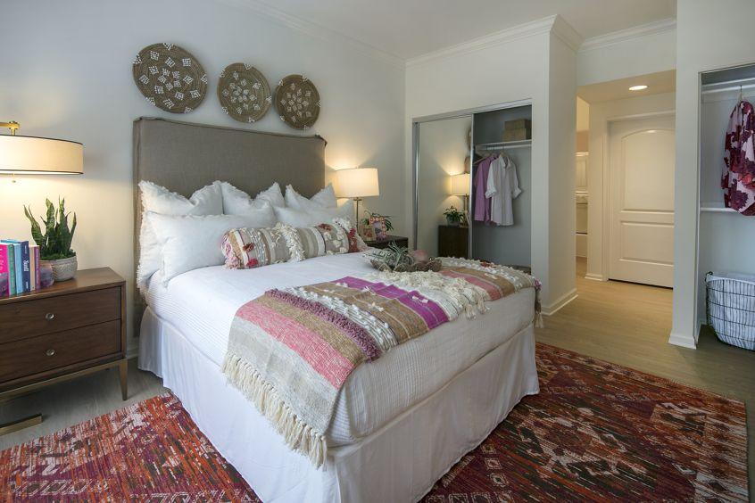 View of bedroom at The Villas of Renaissance Apartment Homes in La Jolla, CA.