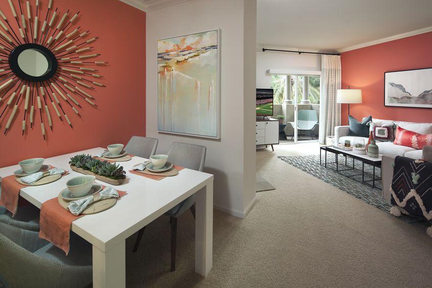 Interior view of The Villas of Renaissance Apartment Homes in La Jolla, CA.