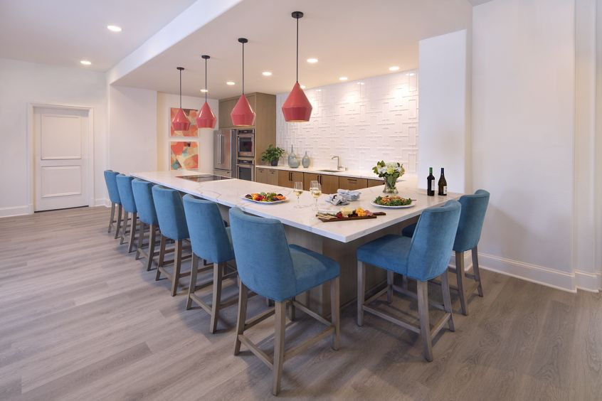 Interior view of Clubhouse at Torrey Villas Apartment Homes in San Diego, CA.
