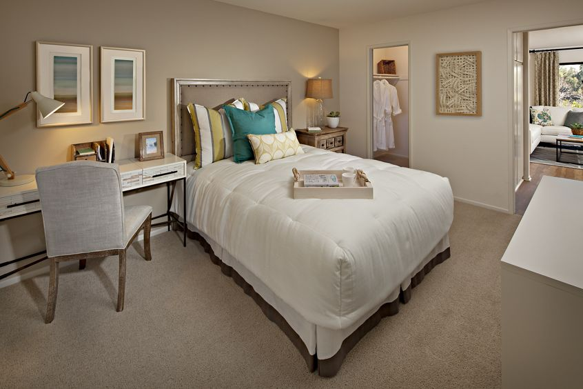Interior view of bedroom at Westwood Apartment Homes in San Diego, CA.