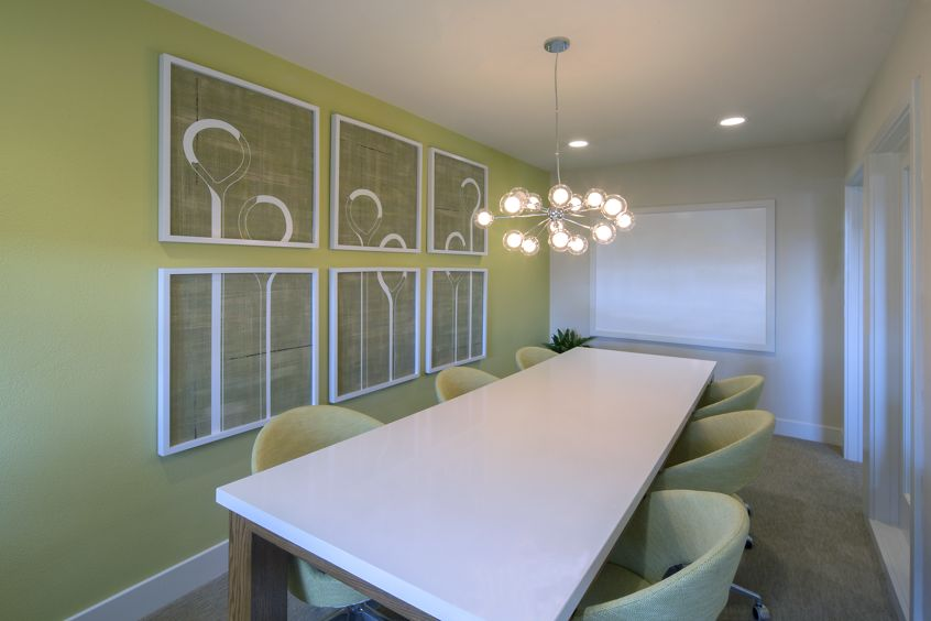 Interior view of conference room at Westwood Apartment Homes in San Diego, CA.