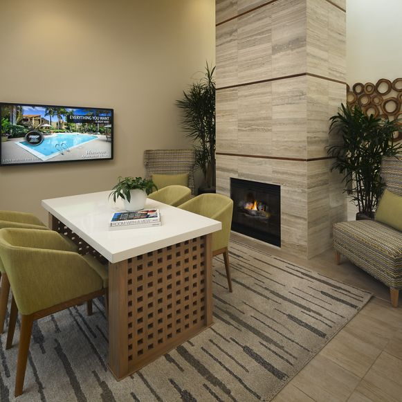 Interior view of leasing office at Westwood Apartment Homes in San Diego, CA.