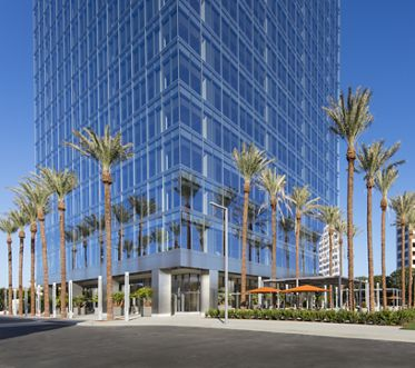 Exterior view of 200 Spectrum Center office building in Irvine Spectrum. Lamb 2016.