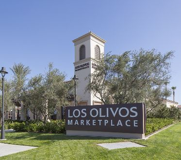 Photography of the Los Olivos Marketplace shopping center in Irvine, CA