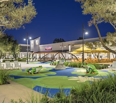 Exterior view of Woodbridge Village Center in Irvine.