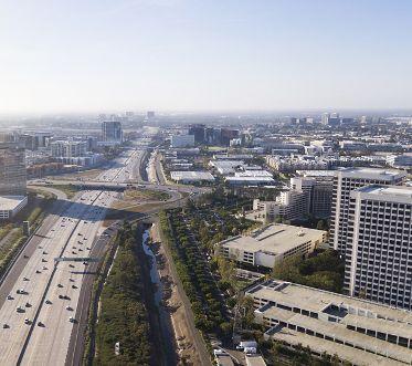 View of the Irvine skyline.