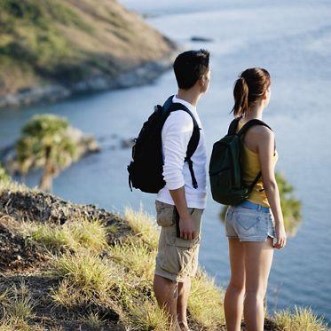 Hikers Looking at Ocean