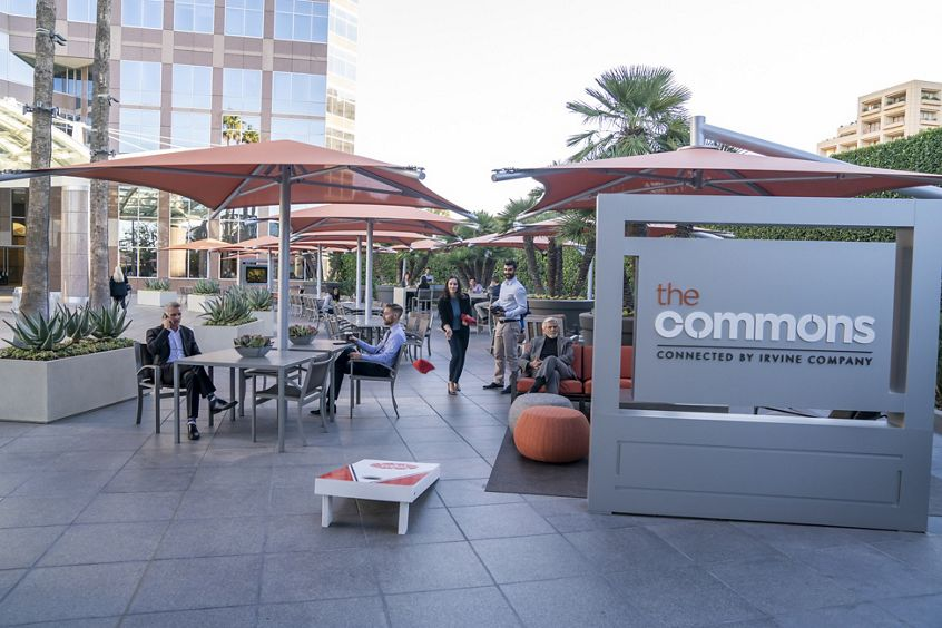 Lifestyle photography of The Commons at Fox Plaza in Los Angeles, CA