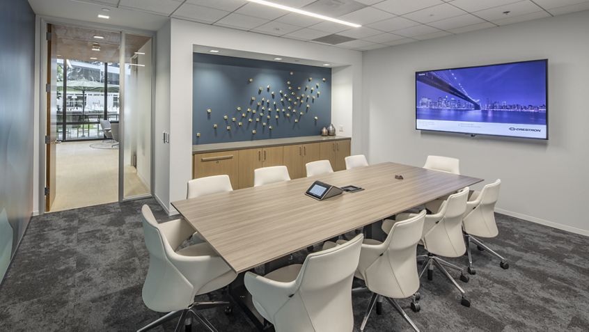 Interior view of conference center at Irvine Towers in Irvine, CA.