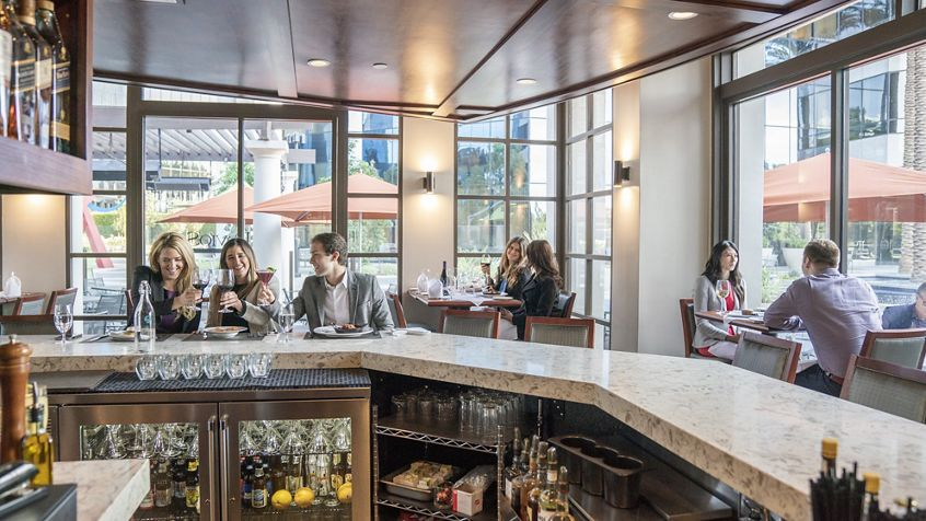 Lifestyle photography of Davio's Northern Italian Steakhouse at Irvine Towers in Irvine, CA