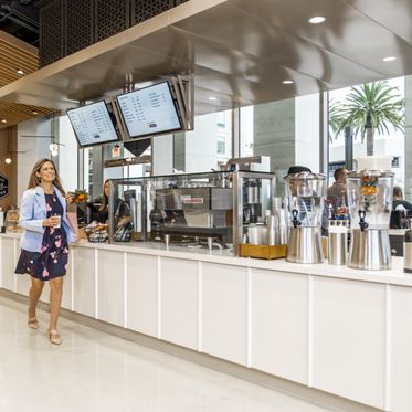 Lifestyle photography of Pacific Kitchen at MacArthur Court in Newport Beach, CA