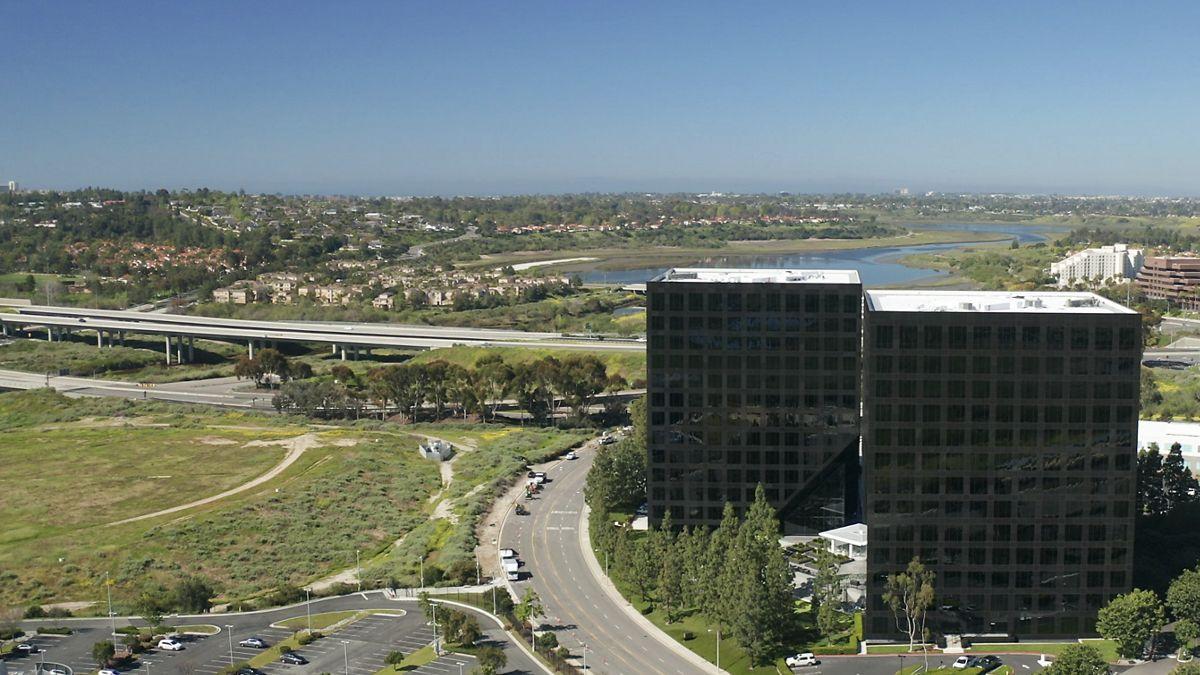 Drone photography of Newport Gateway, Irvine Ca