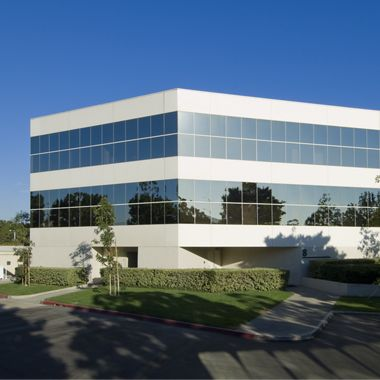 Exterior views of Executive Park office buildings at the Irvine Business Complex. Snipes 2008.