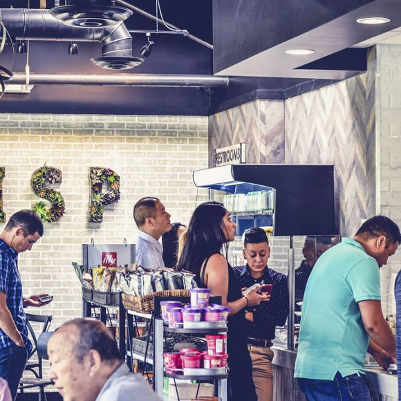 Photography of the trade food hall at The Launch, Irvine, CA