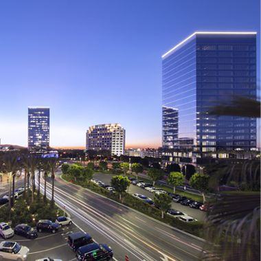 Photography of buildings of the Spectrum Skyline, Irvine, Ca