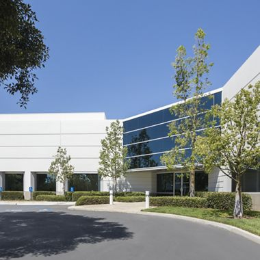 Exterior view of 140 Technology Park office building.