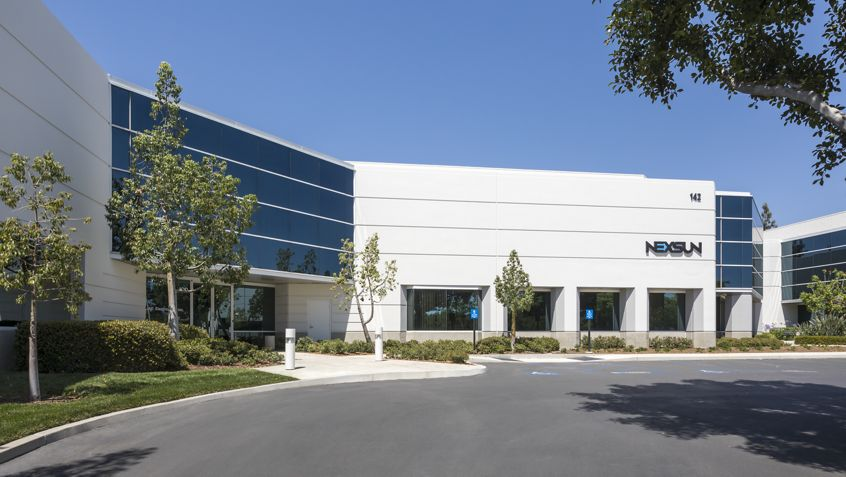Exterior view of 142 Technology Park office building.