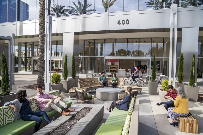 Lifestyle photography of The Commons at 400 Spectrum Center Drive in Irvine, CA
