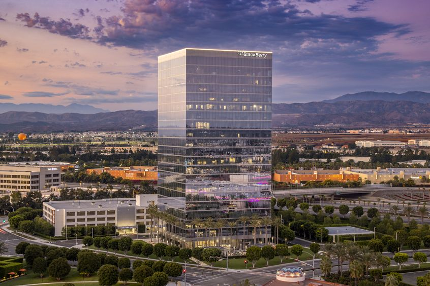 Building exterior photography of 400 Spectrum Center, part of the Spectrum Skyline in Irvine, CA