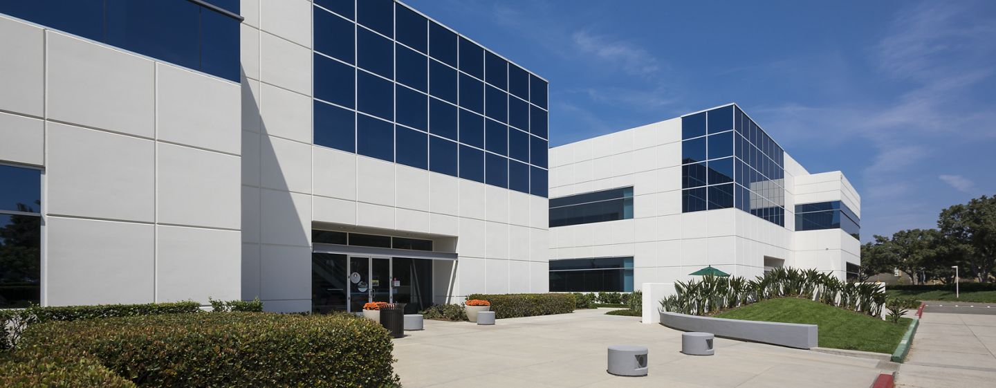 Exterior view of 31 & 33 Technology office buildings.