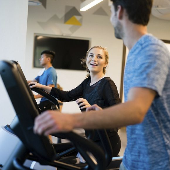 Lifestyle photography of the KINETIC™ fitness center at 530 Technology Drive - Discovery Park in Irvine, CA