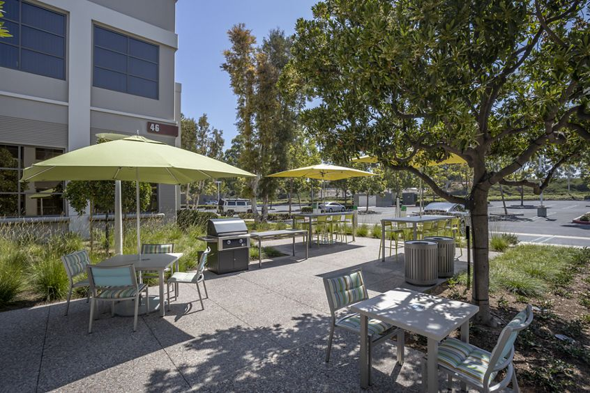 Exterior view of The Commons at 46-48 Discovery in Irvine, CA