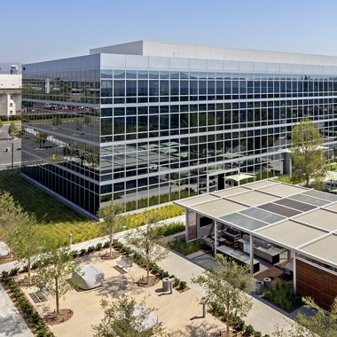 Hero building photography of 500 Technology Drive - The Quad at Discovery Park in Irvine, CA