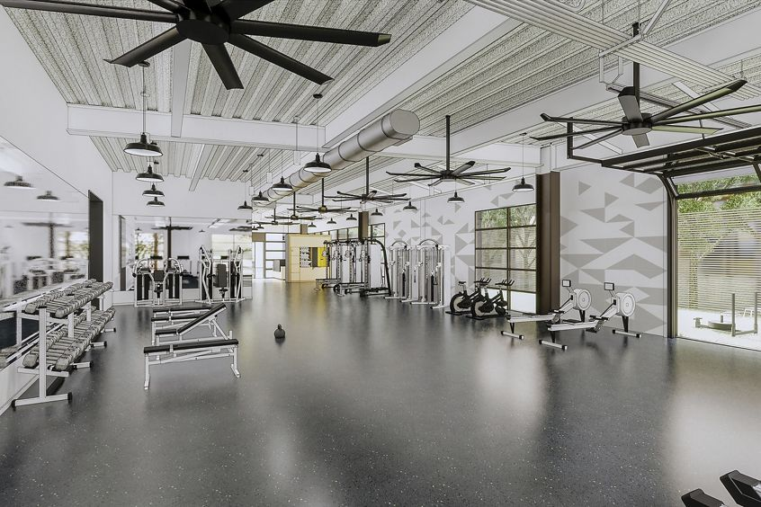Rendering of the KINETIC fitness center at Innovation Office Park in Irvine, CA