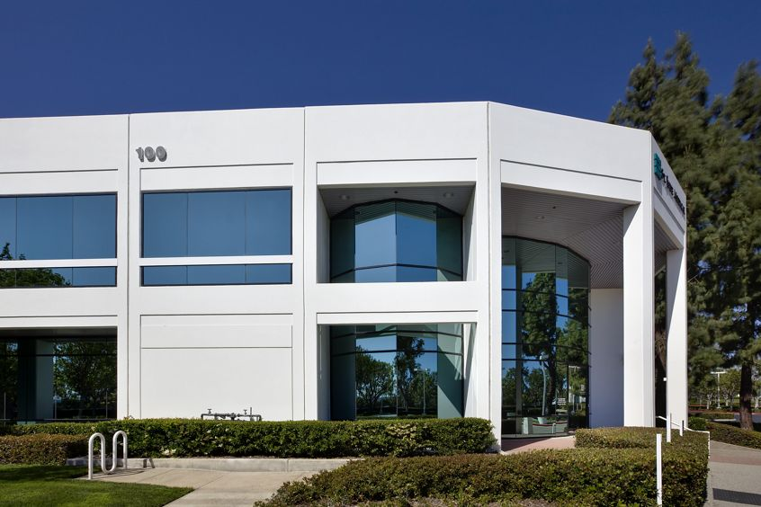 Exterior views of 100 Technology Drive office building at Lakeview Business Center in Irvine Spectrum 3. RMA Photography 2012.