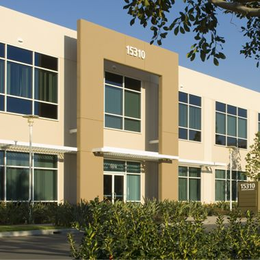 Exterior views of Lakeview Business Center office buildings in Irvine Spectrum 3. Snipes 2009.