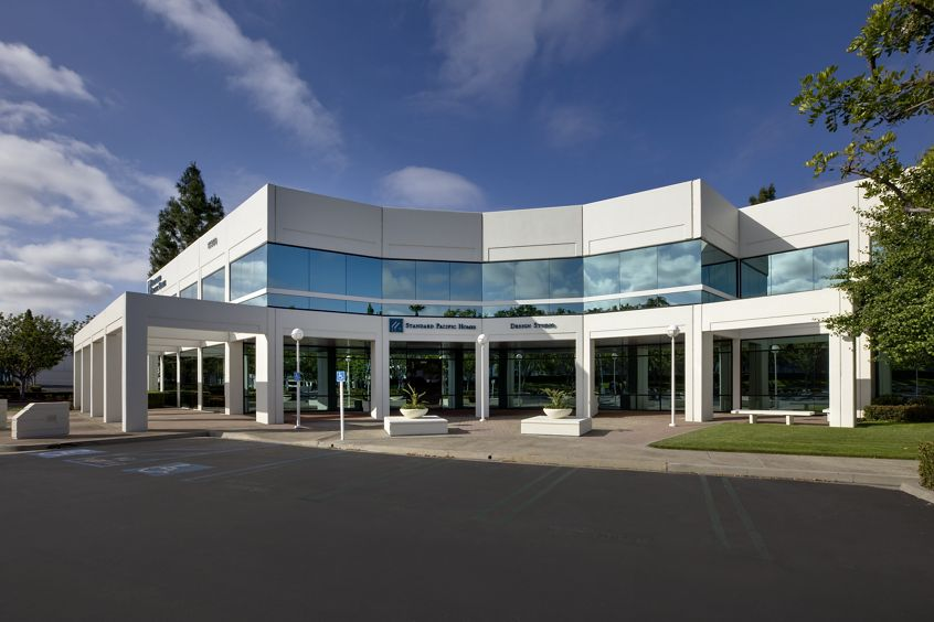 Exterior views of 15360 Barranca Parkway office building at Lakeview Business Center in Irvine Spectrum 3. RMA Photography 2012.