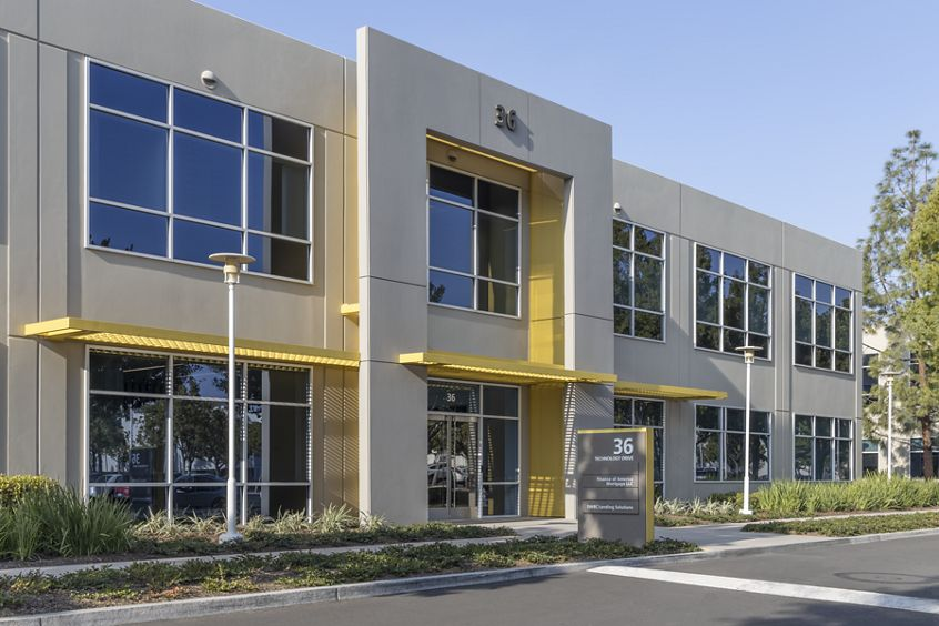 Exterior view of 36 Technology at Lakeview Business Center in Irvine, CA.