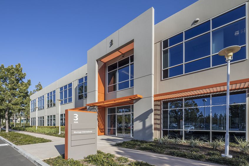 Exterior view of 3 Ada Parkway at Lakeview Business Center in Irvine, CA.
