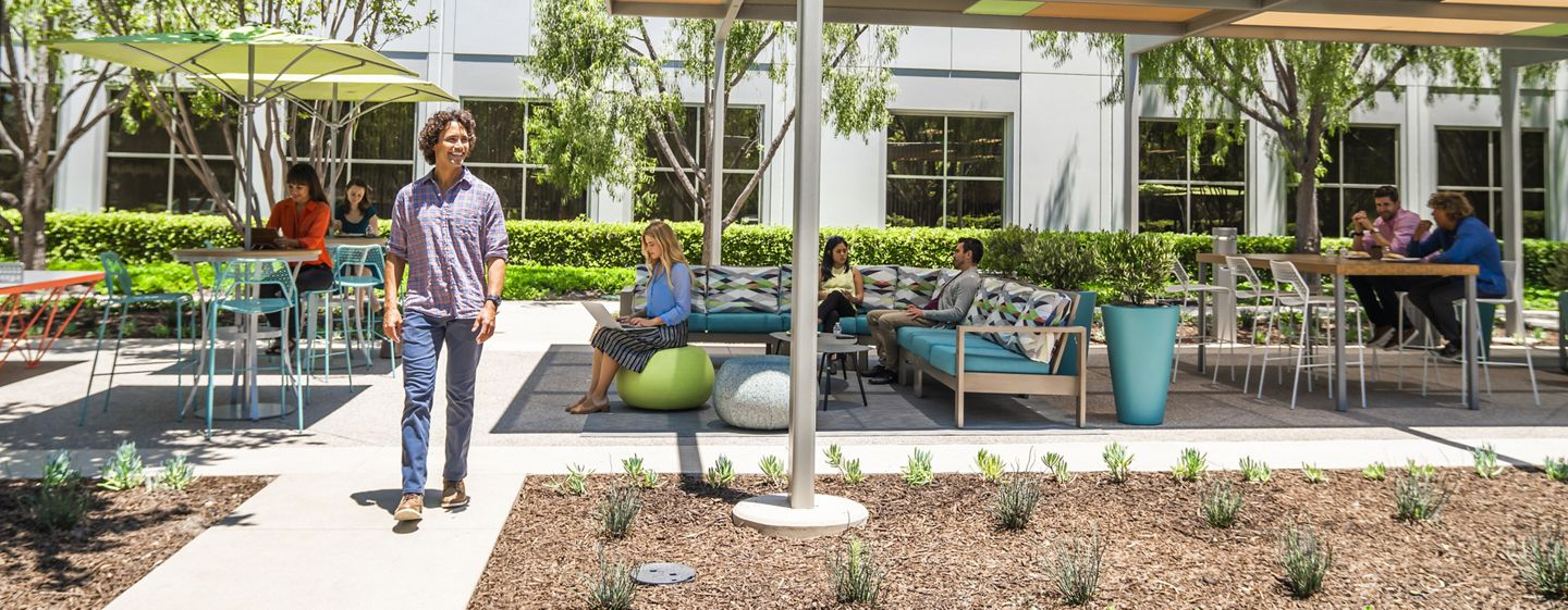 Lifestyle photography of The Commons at Oak Creek Business Center - 6400 Oak Canyon in Irvine, CA