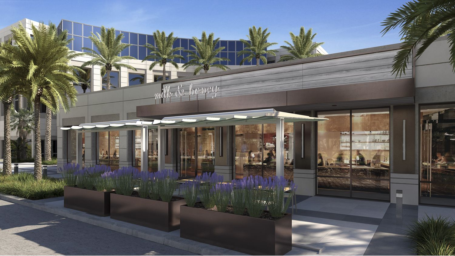 Grab a beverage on-site at Milk & Honey arriving early Fall 2020.