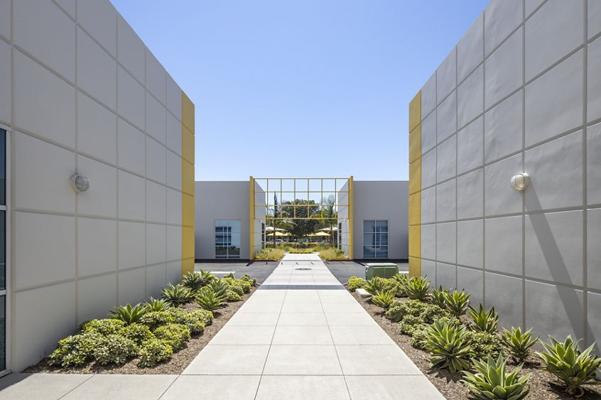 Exterior view of 18 Technology at Technology Link in Irvine, CA.