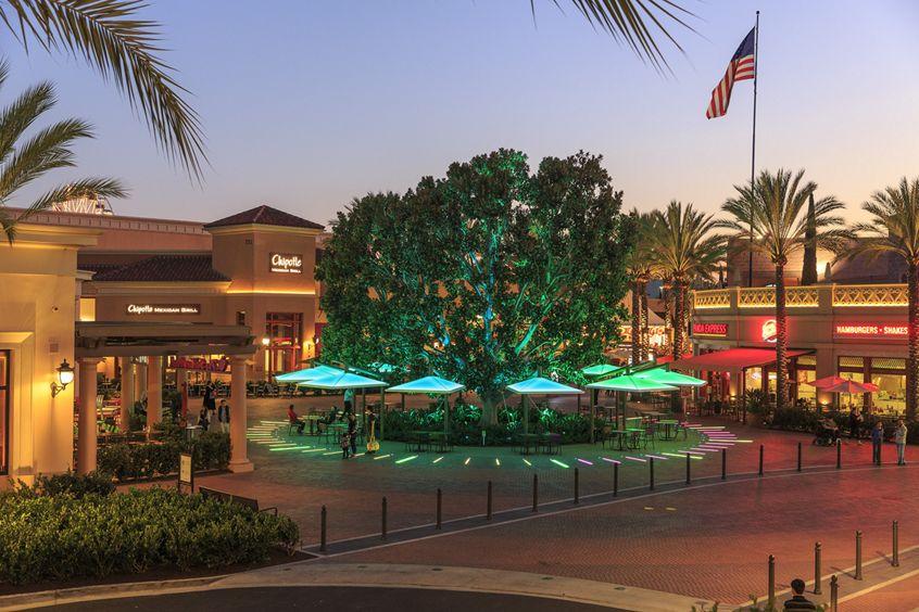 Photography of retail options at Irvine Spectrum Center in Irvine, CA