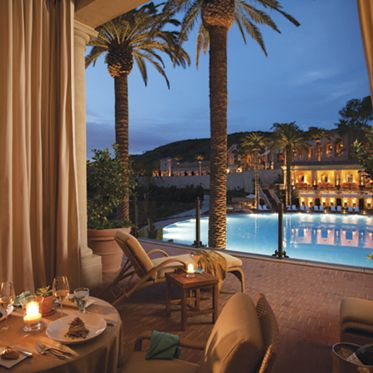 Images of Coliseum Pool and Grill restaurant at Pelican Hill Resort in Newport Coast. Williams 2009.