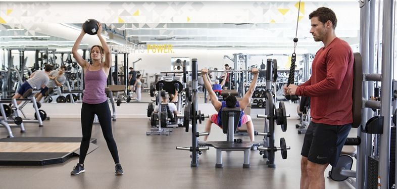 Lifestyle photography of the KINETIC™ fitness center located at 600 Newport Center Drive in Newport Beach, CA