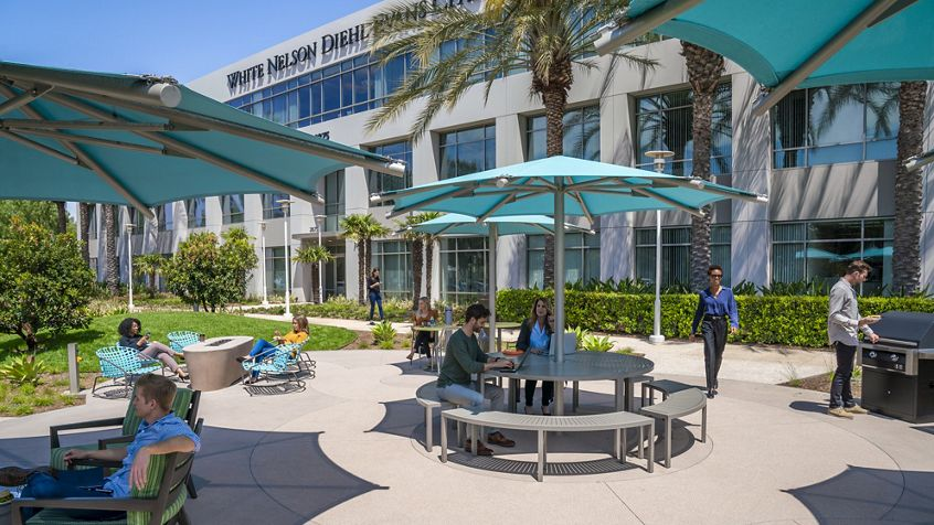 Lifestyle photography of Jamboree Business Center at 2875 Michelle Drive in Irvine, CA