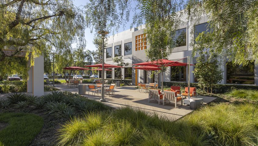 Building exterior photography of Market Place Center - 3200 El Camino Real in Irvine, CA