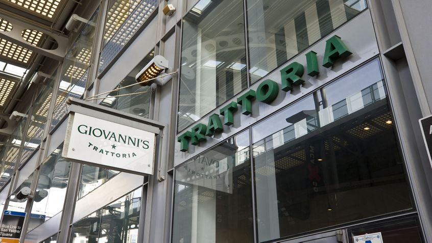 Giovanni's Trattoria at One America Plaza.