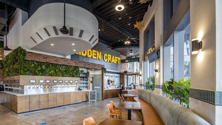 Interior view of 600 W Broadway - Hidden Craft in San Diego, CA.